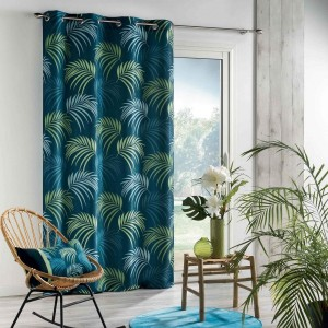 Vorhang (140 X 260 cm) Tropical Blue Blau
