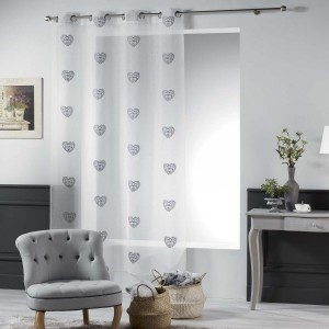 Voilage (140 x 240 cm) Sweety Gris