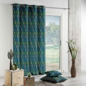 Vorhang (140 X 260 cm) Winter Green Blau