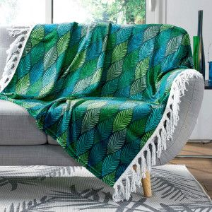 Plaid doux (150 cm) Winter Green Bleu