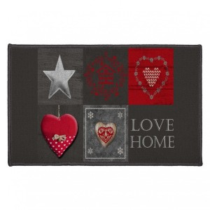 Tapis multi-usage (80 cm) Love Home Rouge
