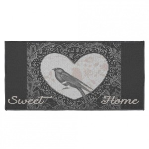 Tapis multi-usage (115 cm) Love Birds Gris