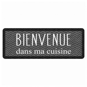 Tapis de cuisine (120 cm) Kitchen Black Gris