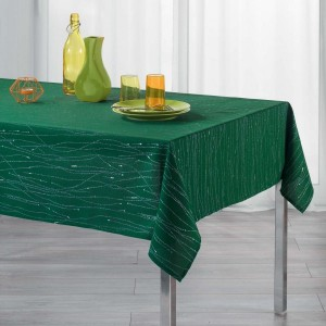 Mantel rectangular (L300 cm) Filiane Verde esmeralda
