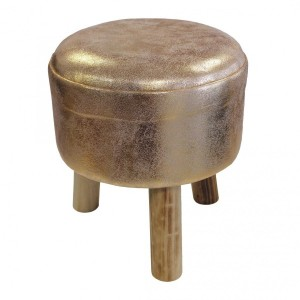 Tabouret Suede Or