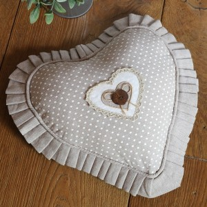 Coussin coeur Lyna Naturel