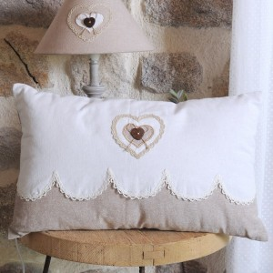 Coussin rectangulaire Lyna Blanc