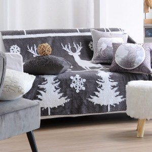 Plaid in pile (160 cm) Dark Cerf Grigio