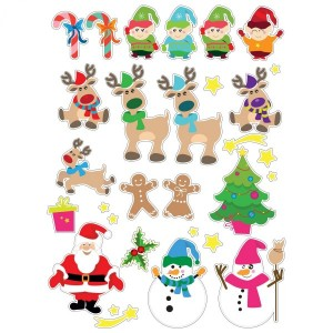 Lot de 60 stickers Lutins Multicouleur