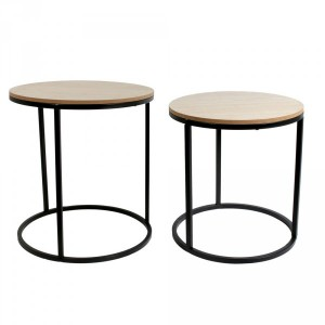 Lot de 2 tables à café Gigogneo Naturelles