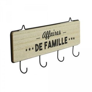 Percha de pared madera Familia Natural