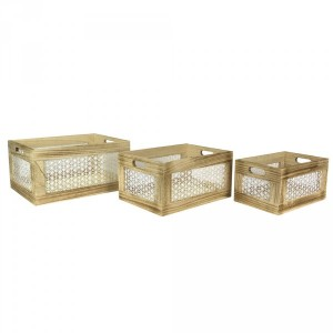 Set di 3 cassette Ethnical Life Naturale