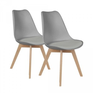 Lot de 2 chaises Lenzo Grises