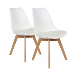 Lot de 2 chaises Lenzo Blanc