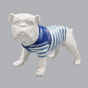 Bulldog decorativo Bianco