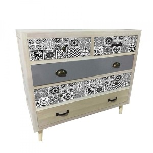 Commode Carreau Gris