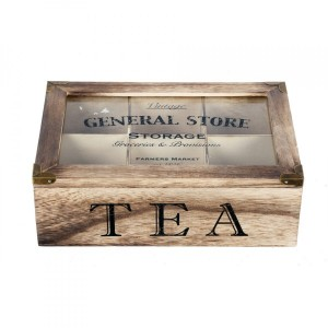 Caja para té General Store Natural
