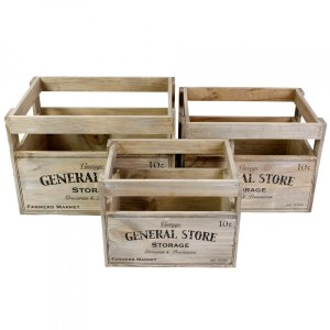 Lot de 3 caisses General store Naturel