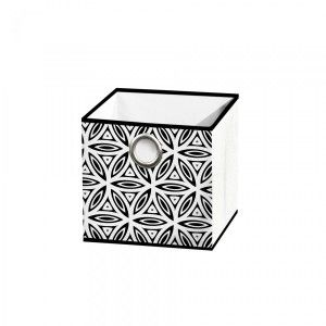 Opbergbox (12x12 cm)  Graphic Jungle Zwart-Wit