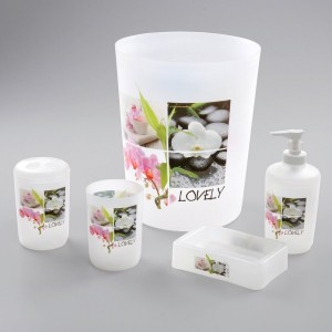 Kit accessori bagno Lovely Rosa