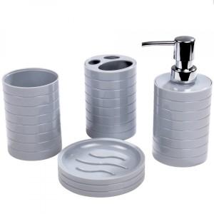 Porte savon ventouse vitamine gris clair accessoire salle de bain eminza - Accessoire salle de bain gris ...