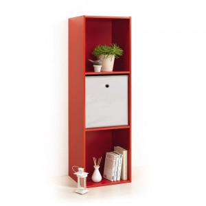 Etagère Homea 3 cases Rouge