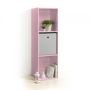Etagère Homea 3 cases Rose poudré
