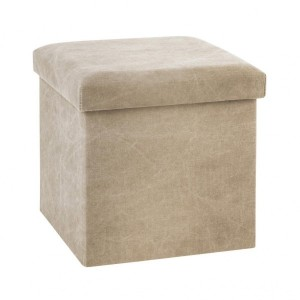 Puf plegable Stone Wash Beige