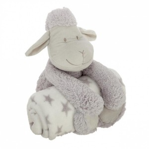 Plaid Peluche Mouton Gris clair