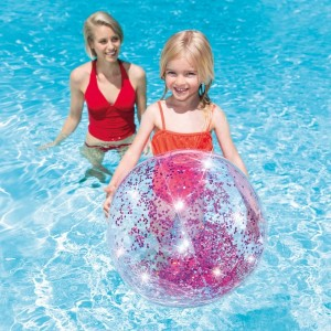 Pallone brillantini rosa Intex