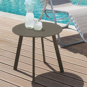 Table d'appoint ronde Saona (D50 cm) - Marron tonka mat