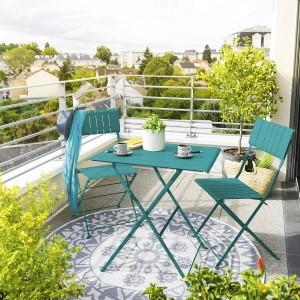 table de jardin pliante ronde m tal avec chaises pliantes vert salon de jardin table et. Black Bedroom Furniture Sets. Home Design Ideas