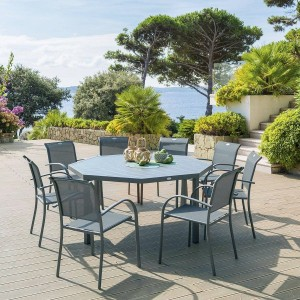 Table de jardin - Salon de jardin, table et chaise - Eminza