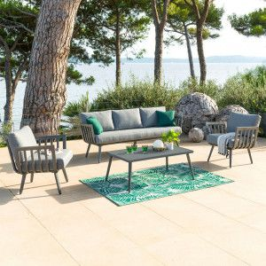Salon de jardin Paradize Gris graphite- 5 places