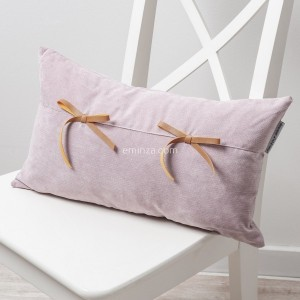 Coussin rectangulaire Veloutine Rose