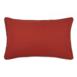 Coussin rectangulaire Duo Rouge terracotta