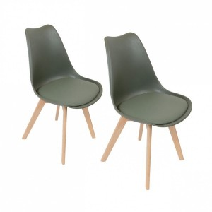 Lot de 2 chaises Stuffed Vert kaki