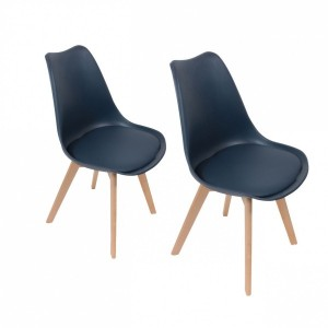 Lot de 2 chaises Stuffed Bleues