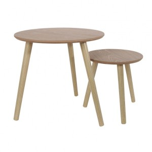 Lot de 2 tables Gigogne Naturelles