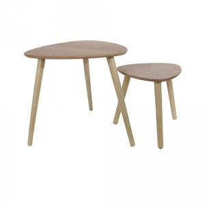 Lot de 2 tables Gigogne Triangle Naturelles