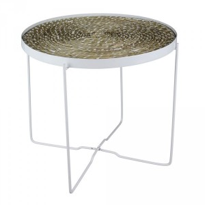 Table d'appoint Ethnical Life Blanche