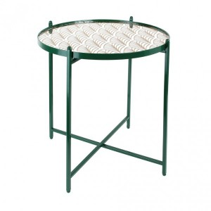 Table d'appoint Miroir Motif Verte