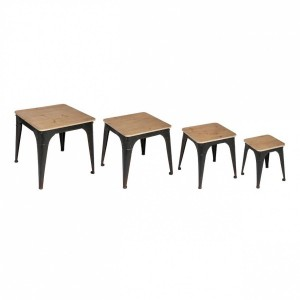 Lot de 4 tables à café Torof Noires