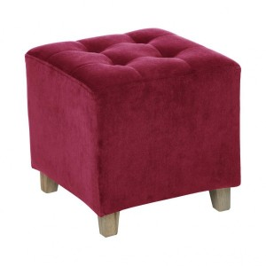 Hocker in Samtoptik Leandre Pink