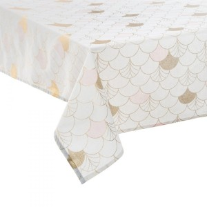 Nappe rectangulaire (L240 cm) Geometry Blanc