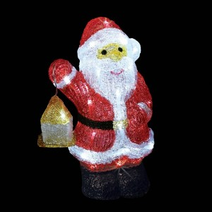 Papá Noel luminoso Régis Blanco frío 40 LED
