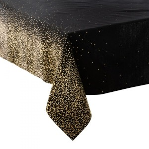 Mantel rectangular (L360 cm) Leopardo Negro