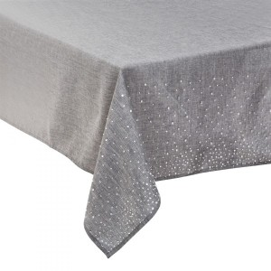 Mantel rectangular (L360 cm) Strass Plata