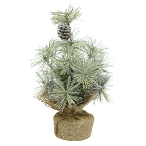 Sapin artificiel de table Nature enneigé H25 cm Vert