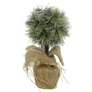 Sapin artificiel de table Boule pomme de pin H25 cm Vert
